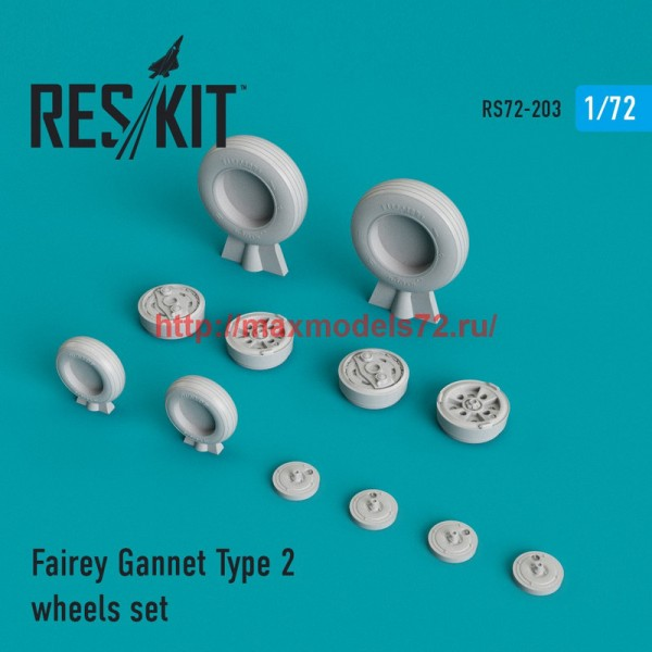 RS72-0203   Fairey Gannet Type 2 wheels set (thumb44334)