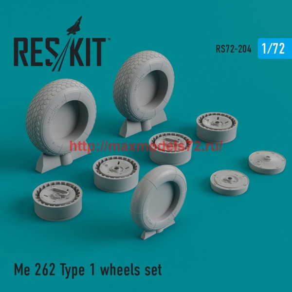 RS72-0204   Me.262 Type 1 wheels set (thumb44336)