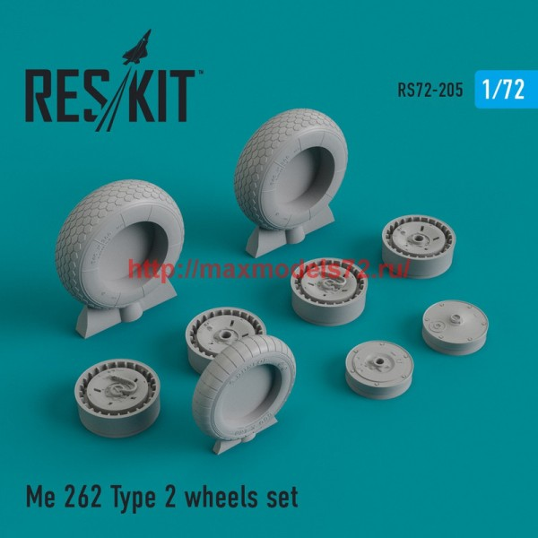 RS72-0205   Me.262 Type 2 wheels set (thumb44338)