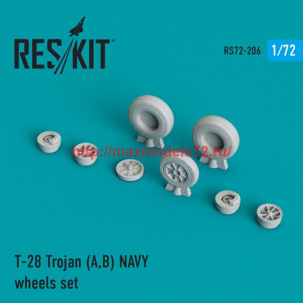 RS72-0206   T-28 Trojan (A,B) NAVY wheels set (thumb44340)