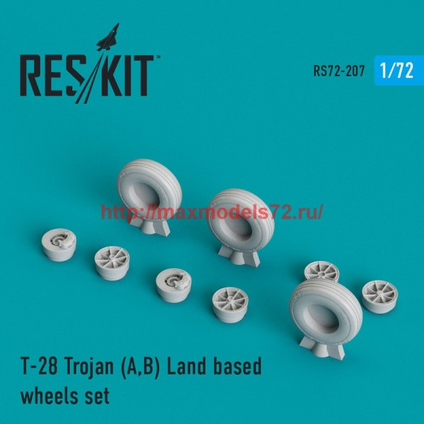 RS72-0207   T-28 Trojan (A,B) Land based wheels set (thumb44342)
