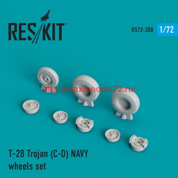 RS72-0208   T-28 Trojan (C-D) NAVY wheels set (thumb44344)