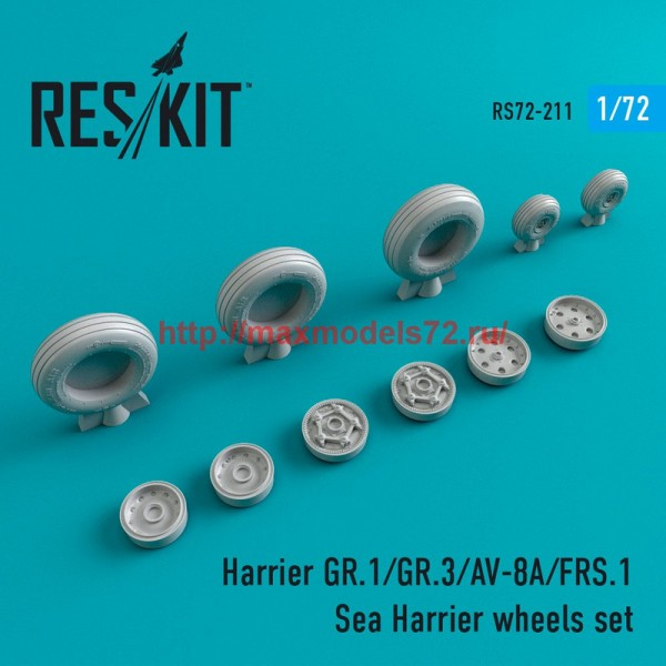 RS72-0211   Harrier GR.1/GR.3/AV-8A/FRS.1/Sea Harrier  wheels set (thumb44350)