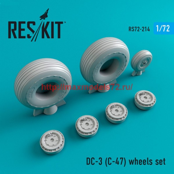 RS72-0214   DC- 3 (C-47) wheels set (thumb44356)