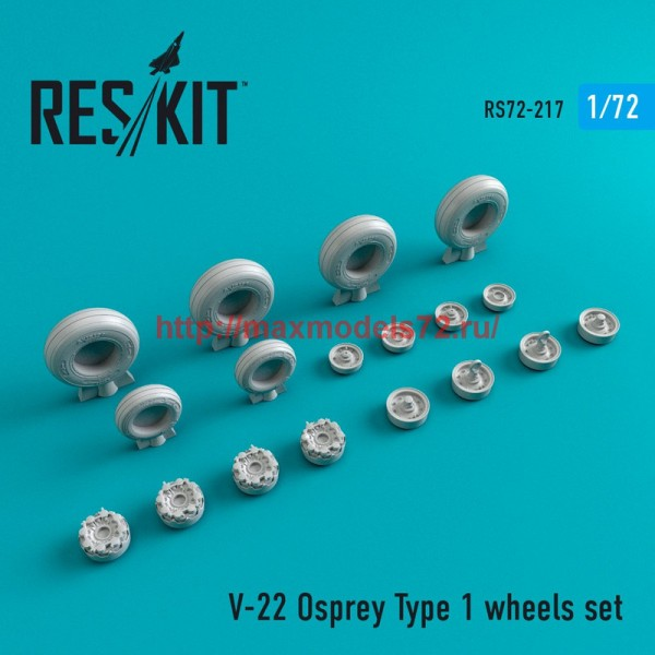 RS72-0217   V-22 Osprey Type 1 wheels set (thumb44362)