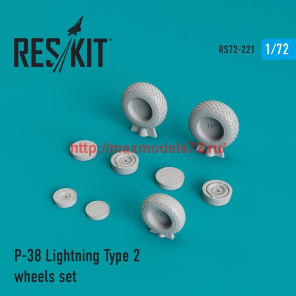 RS72-0221   P-38 Lightning Type 2 wheels set (thumb44370)