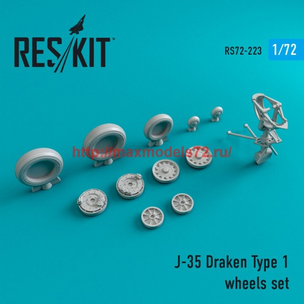 RS72-0223   J-35 Draken Type 1 wheels set (thumb44374)