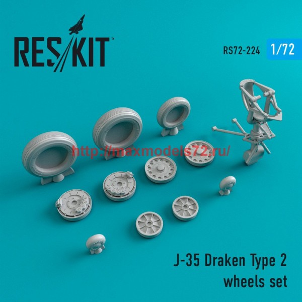 RS72-0224   J-35 Draken Type 2 wheels set (thumb44376)