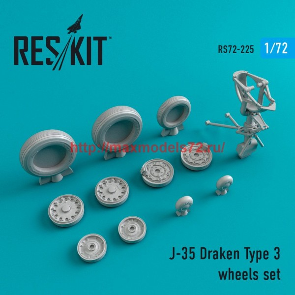 RS72-0225   J-35 Draken Type 3 wheels set (thumb44378)