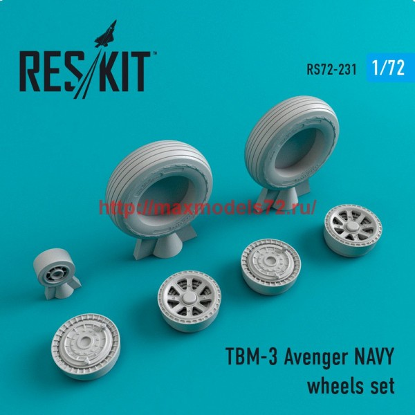 RS72-0231   TBM-3 Avenger NAVY wheels set (thumb44384)