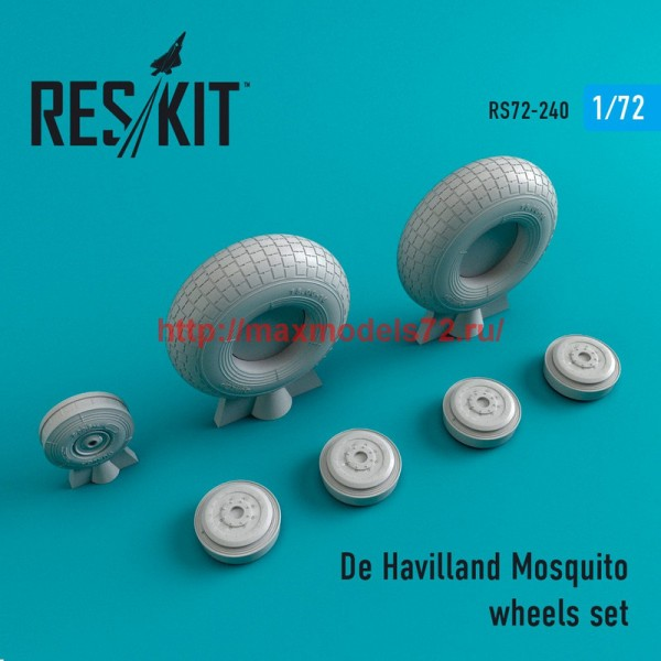 RS72-0240   De Havilland Mosquito wheels set (thumb44386)