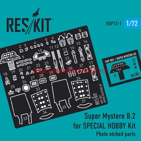 RSP72-001   Super Mystere B.2 for AZUR Kit  1/72 (thumb43935)