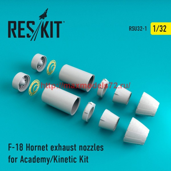 RSU32-0001   F-18 Hornet exhaust nozzles for Academy/Kinetic Kit (thumb45171)