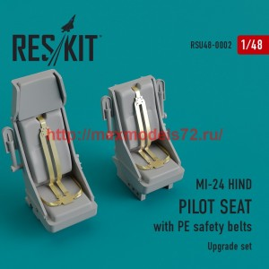 RSU48-0002   MI-24 hind. Pilot seat with PE safety belts (thumb44416)