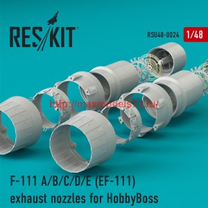 RSU48-0024   F-111 (A/B/C/D/E) (EF-111) exhaust nozzles for HobbyBoss KIT (thumb44459)