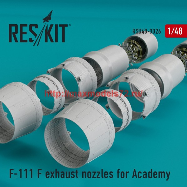 RSU48-0026   F-111 (F) exhaust nozzles for Academy KIT (thumb44463)