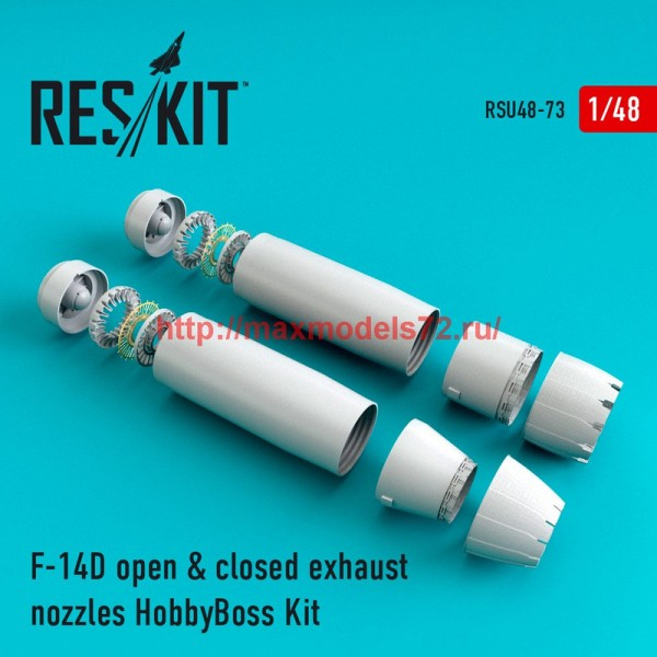 RSU48-0073   F-14D Tomcat open & closed exhaust nozzles for HobbyBoss Kit (thumb44563)