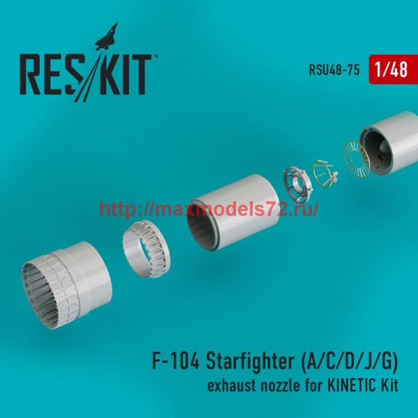 RSU48-0075   F-104 Starfighter (A/C/D/J/G) exhaust nozzle for KINETIC Kit (thumb44565)