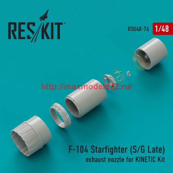 RSU48-0076   F-104 Starfighter (S/G Late) exhaust nozzle for KINETIC Kit (thumb44567)
