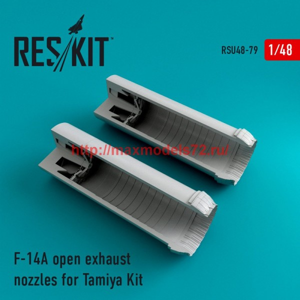 RSU48-0079   F-14A Tomcat open exhaust nozzles for Tamiya Kit (thumb44575)
