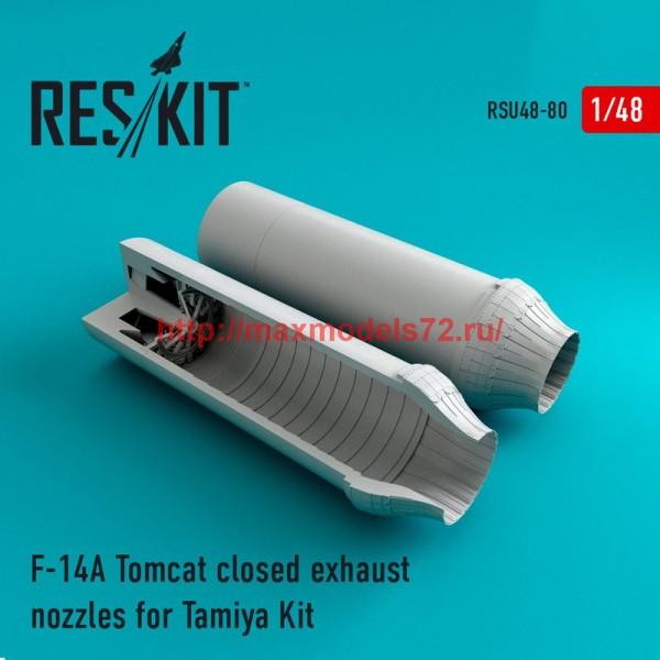 RSU48-0080   F-14A Tomcat closed exhaust nozzles for Tamiya Kit (thumb44577)