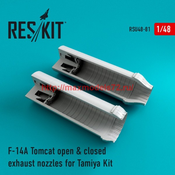 RSU48-0081   F-14A Tomcat open & closed exhaust nozzles for Tamiya Kit (thumb44579)