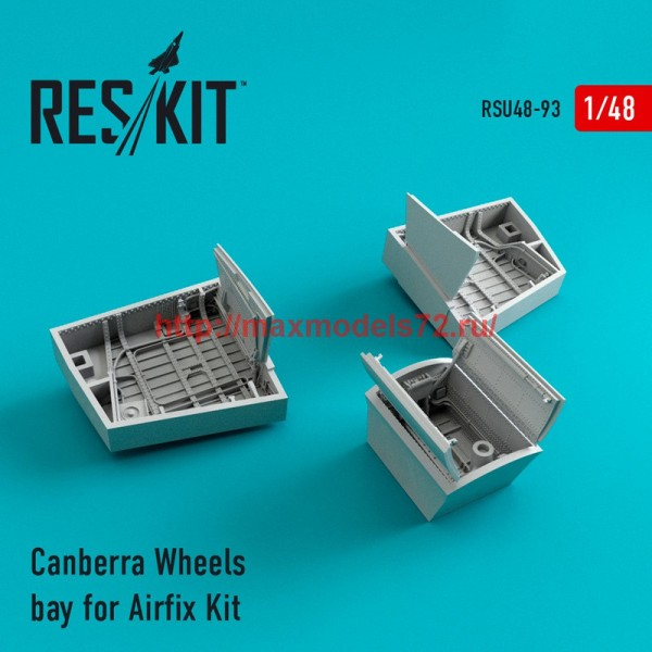RSU48-0093   Canberra Wheels bay for for Airfix Kit (thumb44587)