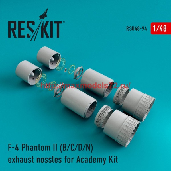 RSU48-0094   F-4 Phantom II (B/C/D/N) exhaust nossles for Academy Kit (thumb44589)