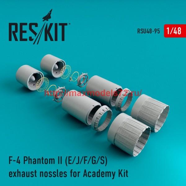 RSU48-0095   F-4 Phantom II (E/J/F/G/S) exhaust nossles for Academy Kit (thumb44591)
