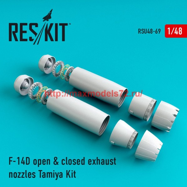 RSU48-0069   F-14D Tomcat open & closed exhaust nozzles for Tamiya Kit (thumb44555)