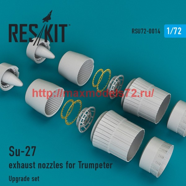 RSU72-0014   Su-27 exhaust nozzles for Trumpeter (thumb43825)
