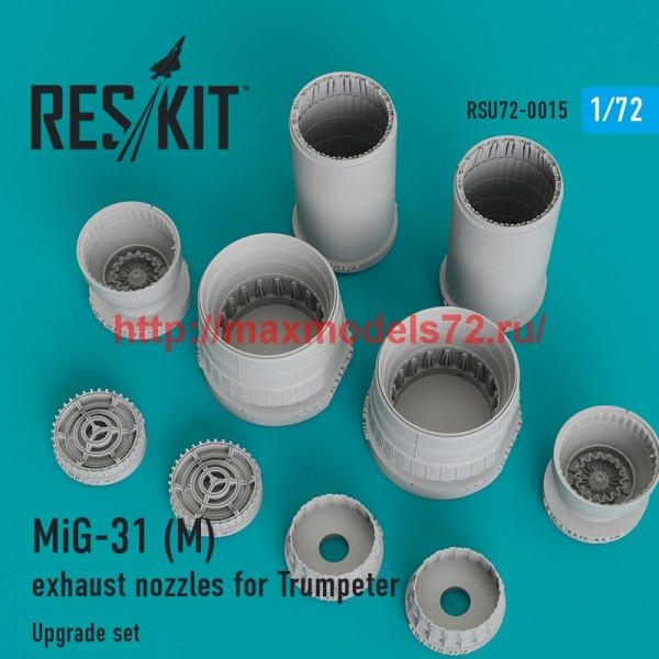 RSU72-0015   MiG-31 (M) exhaust nozzles for Trumpeter (thumb43827)