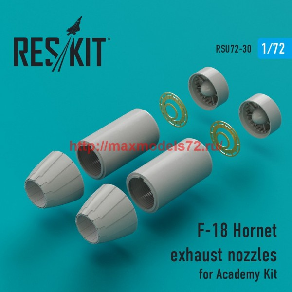RSU72-0030   F-18 Hornet exhaust nozzles for Academy Kit (thumb43857)