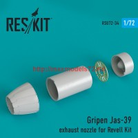 RSU72-0034   Gripen Jas-39 exhaust nozzle for Revell Kit (thumb43865)