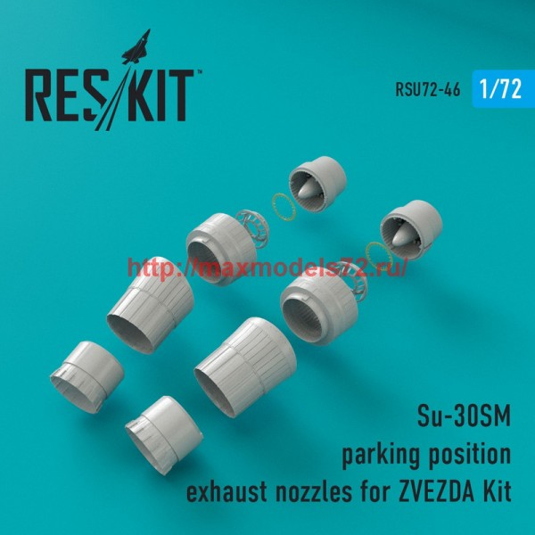 RSU72-0046   Su-30SM parking position exhaust nozzles for ZVEZDA Kit (thumb43889)