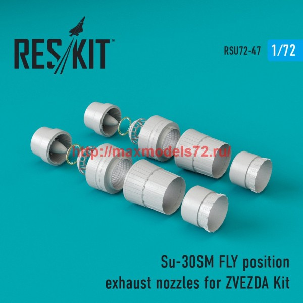 RSU72-0047   Su-30SM fly position exhaust nozzles for ZVEZDA Kit (thumb43891)