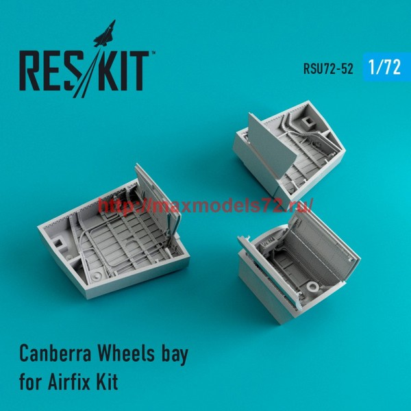RSU72-0052   Canberra Wheels bay for for Airfix Kit (thumb43899)