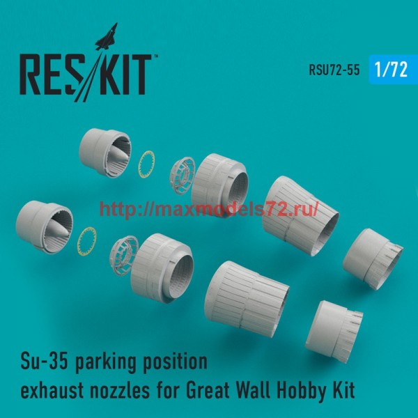 RSU72-0055   Su-35 parking position exhaust nozzles for Great Wall Hobby Kit (thumb43905)