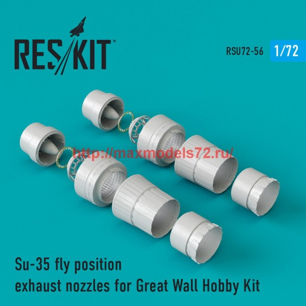 RSU72-0056   Su-35 fly position exhaust nozzles for Great Wall Hobby Kit (thumb43907)