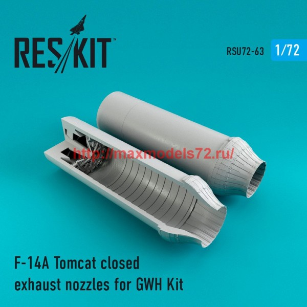 RSU72-0063   F-14A Tomcat closed exhaust nozzles for GWH Kit (thumb43925)