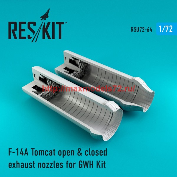 RSU72-0064   F-14A Tomcat open & closed exhaust nozzles for GWH Kit (thumb43927)