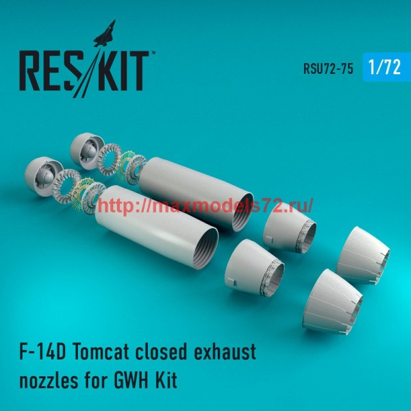 RSU72-0075   F-14D Tomcat closed exhaust nozzles for GWH Kit (thumb43931)