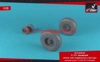 AR AW48320   1/48 F-111 Aardvark late type wheels w/ weighted tires (attach2 47758)