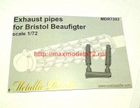 MDR7202   Bristol Beaufigter. Exhaust pipes (attach1 45952)