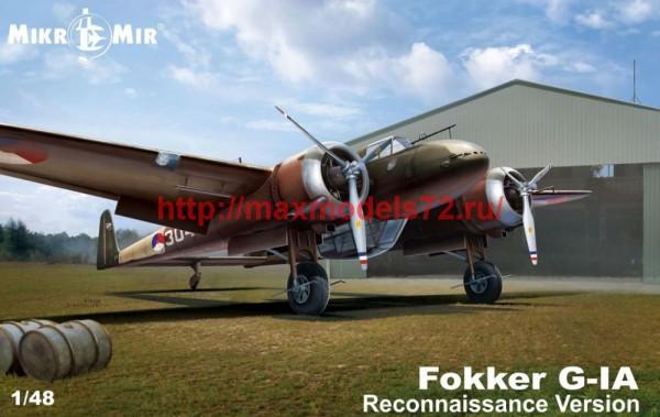 MMir48-018   Fokker G-1 reconnaissance version (thumb48590)