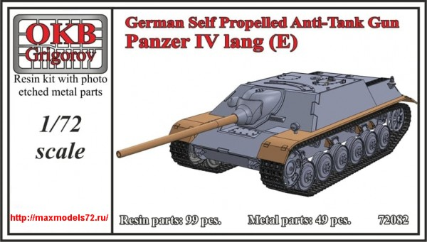 OKBV72082   German Self Propelled Anti-Tank Gun Panzer IV lang (E) (thumb48351)