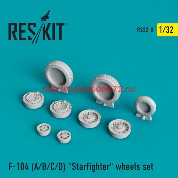 """RS32-0008   F-104 (A/B/C/D) """"Starfighter"""" wheels set (thumb45100)"""