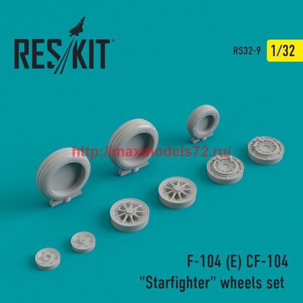 "RS32-0009   F-104 (E) CF-104 ""Starfighter"" wheels set (thumb45102)"
