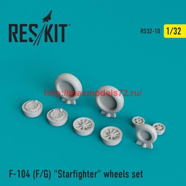 """RS32-0010   F-104 (F/G) """"Starfighter"""" wheels set (thumb45104)"""