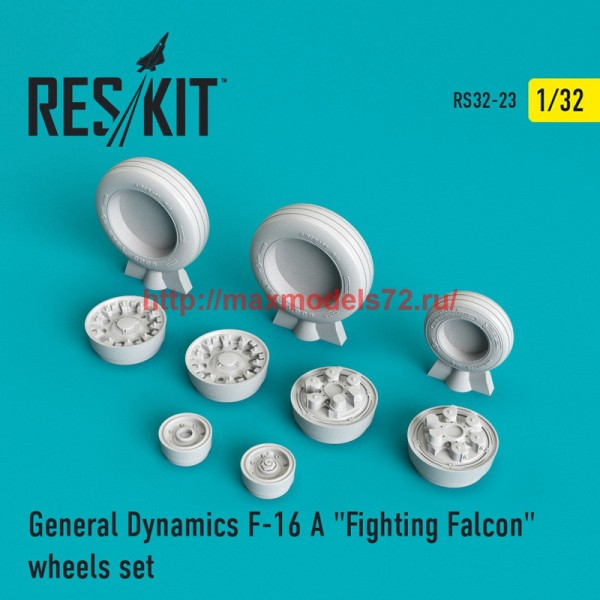 "RS32-0023   F-16 (A) ""Fighting Falcon"" wheels set (thumb45110)"